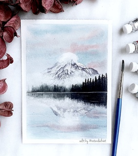 tumblr inspiration, watercolor paint and paintings portrait