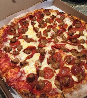 sausage, pizza and pepperoni