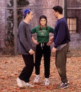 ross, tribiani and rachel