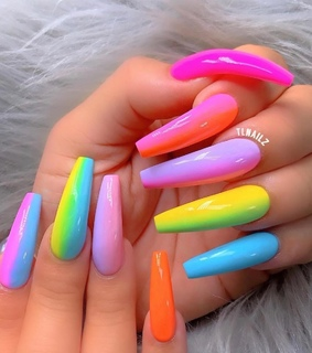 colorful, beauty goals and social media