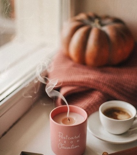 candle, cozy and autumn