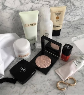 skincare products, beauty and jewelry