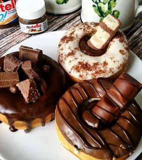 donuts, food and kinder