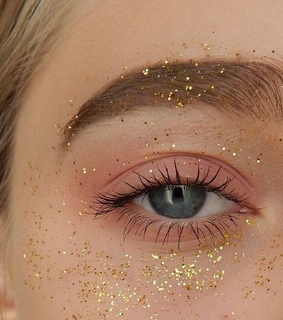 light brown, sparkles and glitter