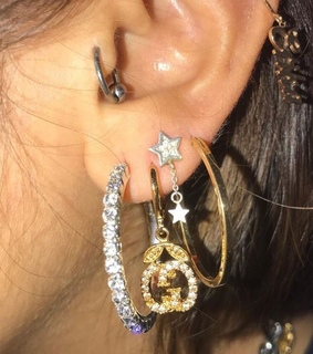 earrings, gold and accessories