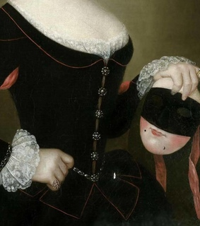 18th century, art and painted faces on parade