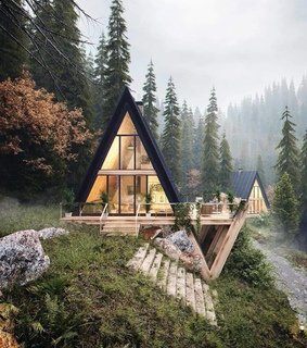 mountain cabin, nature and cozy