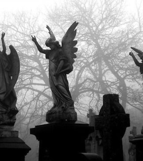 pale, grunge and cemetery