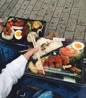 small hand, cute lunches and chopsticks