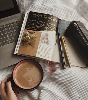 bed, bullet journaling and work