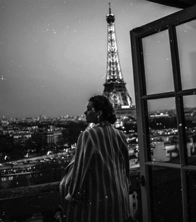eiffel tower, black and white and paris