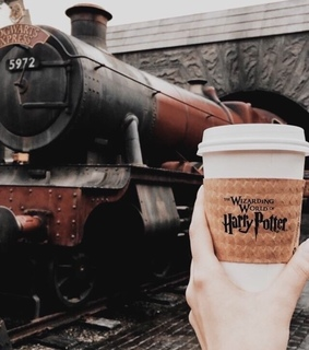 hogwarts express, harry potter and coffee