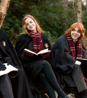 hermione, harry potter and ron