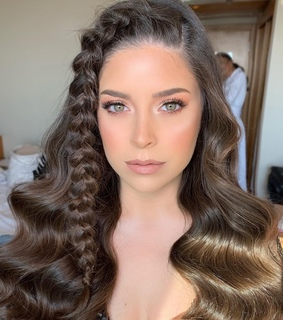 hairstyle, braid and curls
