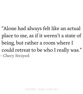 personal, cheryl strayed and alone
