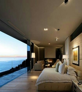 quarto, design de interiores and vista