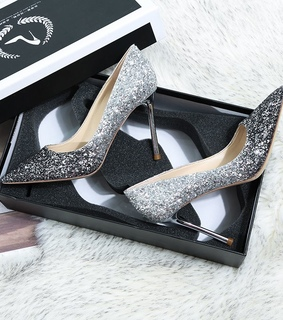 wedding pumps, sparkly and leather