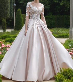 bridal gown, bride and wedding