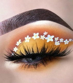 makeup, style and eyes