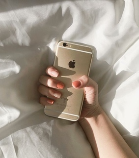 iphone, nails and phone