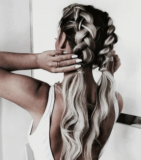 girl, braids and bleached