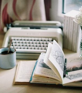 journaling, photography and cup