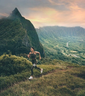 fashion, running and landescape