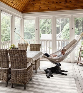 wicker, porch and country living