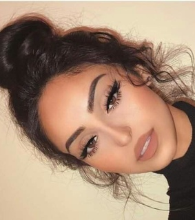 make up, eyes brown and beuty