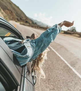 blonde, road trip and beauty