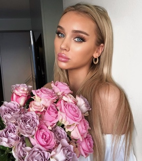 flowers, long hair and pretty