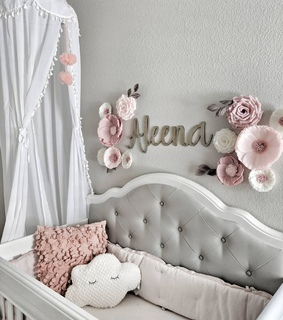 baby girl room, flowers and baby girl