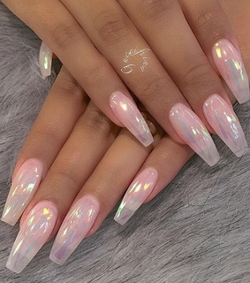 pink, pastel and nails