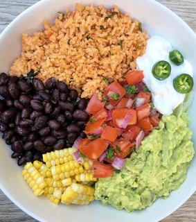 healthy, bowl and beans