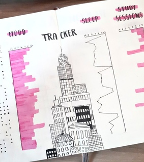 writing, mood tracker and tombow