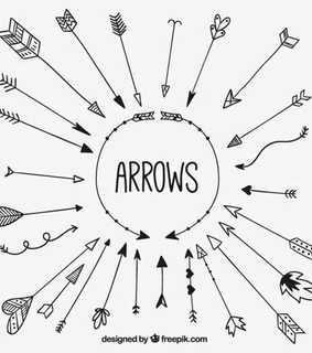 arrows, draw and inspiration