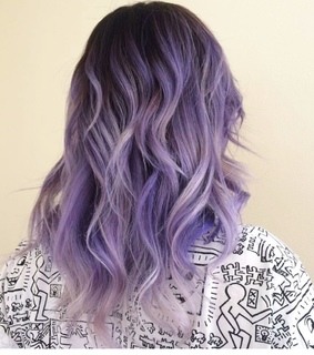 purple hair, cabello and mechas