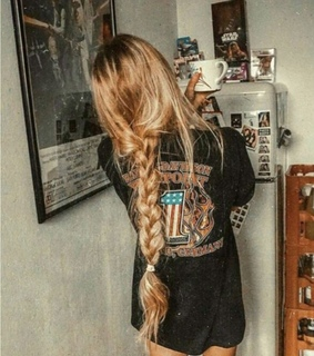 braid, grunge and long