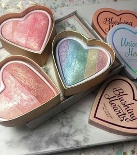unicorn heart, rainbow and tarte
