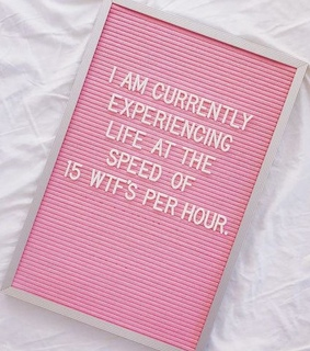 sign, life39s speed and pink quotes