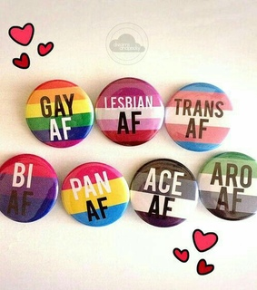 gay, asexual and pansexual