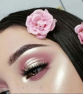 highlights, makeup and female