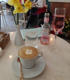 rose lemonade, coffee time and relax