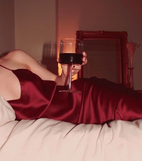 red wine, hot and glass