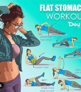 flat stomach, abs and plank