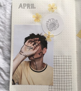 yellow, bullet journal and april 2019