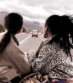 ponytail, car and travel
