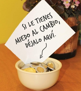 humor, cambio and spare some change