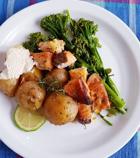 eat, salmon and healthy