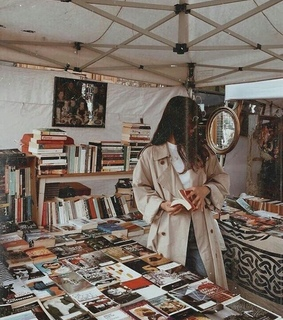 vintage, reading and style